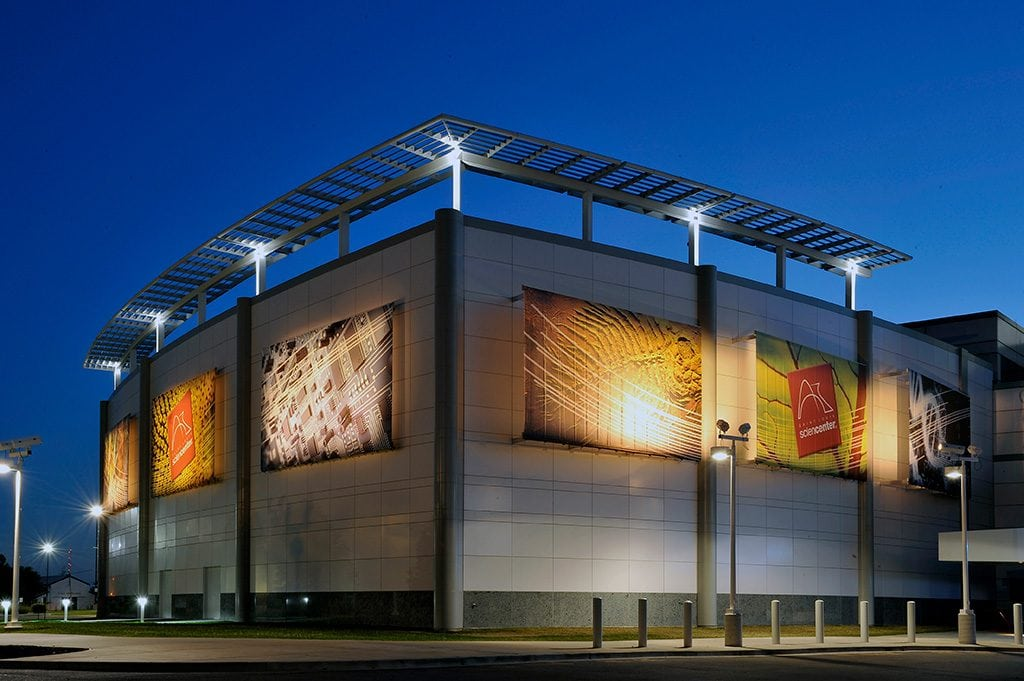 Beautiful commercial building using architectural materials from AMS